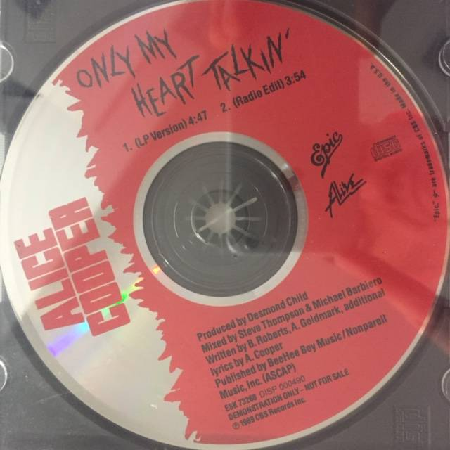 Only My Heart Talkin' - USA / CD / Promo Pressing / ESK73268 / Sealed