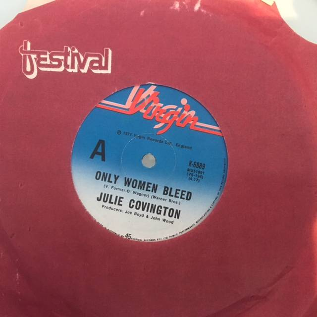 Only Women Bleed /  Julie Covington - Australia / Single / K6989