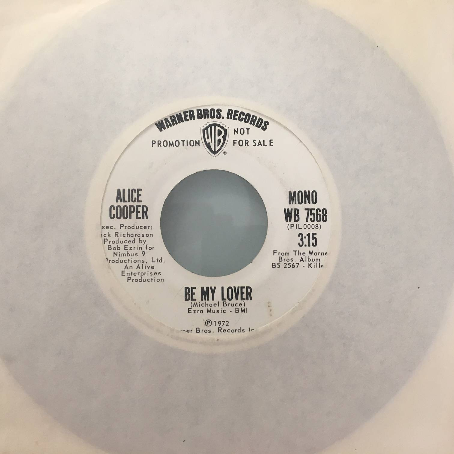 Be My Lover / Be My Lover - USA / Single Promo Pressing / WB7568
