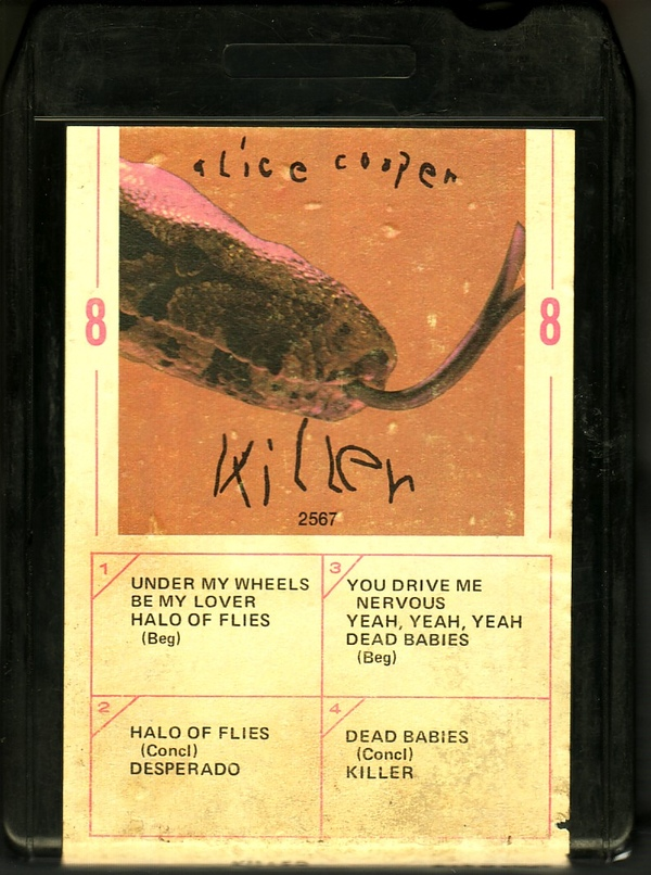 Killer - USA /   8 Track Black /  WARM82567 / 2nd Tape
