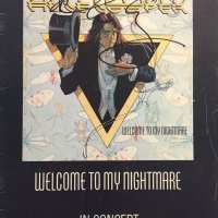 Alice Cooper - Signed Tour Book - 2009 - Welcome to my Nightmare - Australia / New Zealand 1977