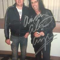 Alice Cooper to Andy - Signed Photograph