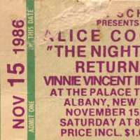 1986 -  November 15 The Nightmare Returns USA Tour / New York