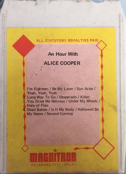 An Hour With Alice Cooper - USA / 8 Track / 612