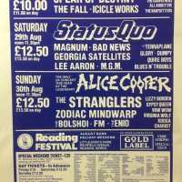 Flyer - 1987 / UK Reading Festival