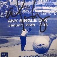 Alice Cooper - Signed 1999 Golf Ticket