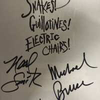 Alice Cooper Band - Signed Book 2015 - Snakes Guillotines Electric Chairs - Dennis Dunaway / Signed 4 Band Members