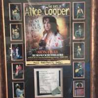 Alice Cooper - Signed Collage - 2005 - Dirty Diamonds Tour - Australia