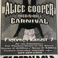 Alice Cooper - Signed 1998 Tour Poster